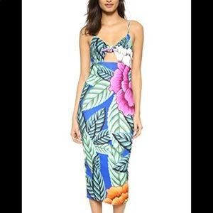 Mara Hoffman Flora Tie Front Midi Dress S